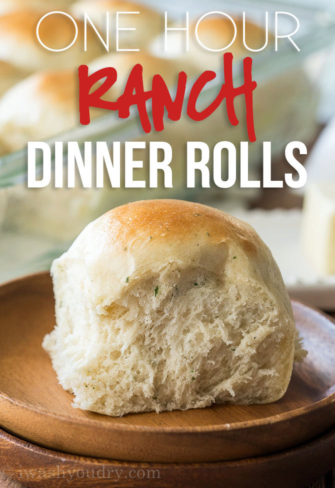 One Hour Ranch Dinner Rolls
