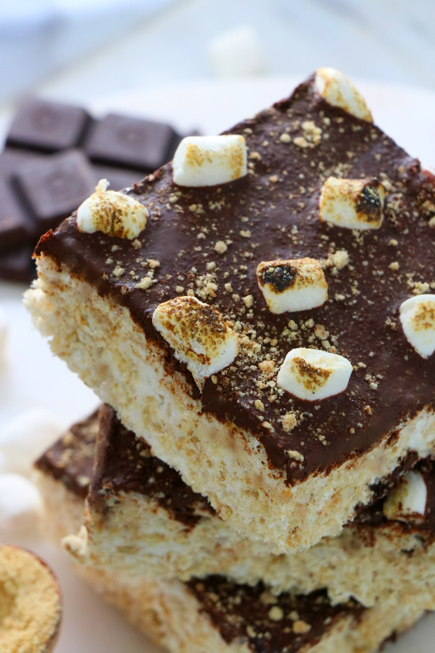 Vegan S'mores Marshmallow Treats
